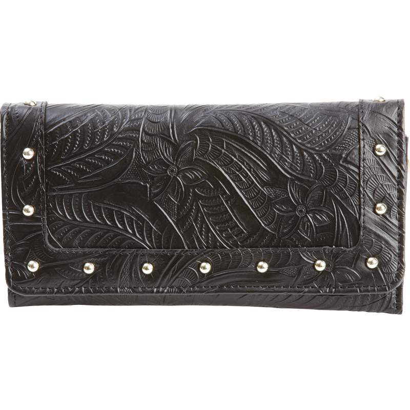Ladies Leather Wallet with Multiple Slots for Currency and Cards