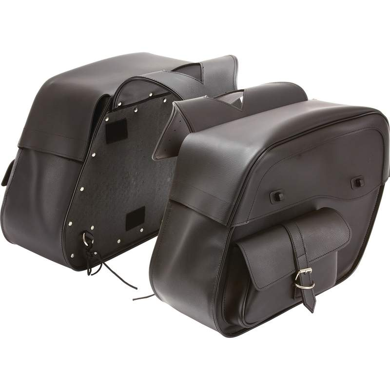 Slanted Motorcycle Saddlebag Set with Water Resistant Material