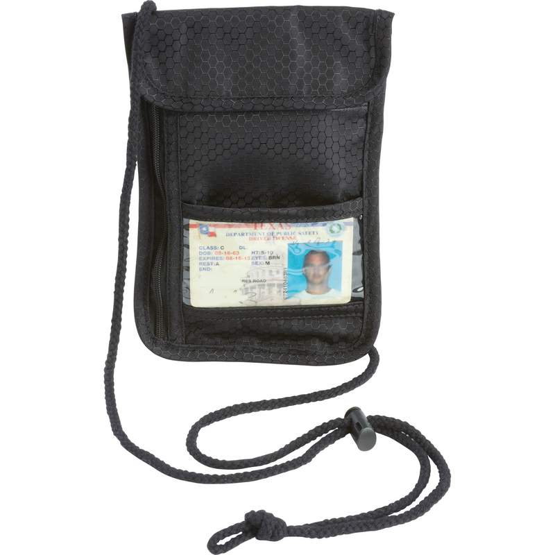 Embassy Neck Lanyard Travel Pouch with Zippered Security Pocket