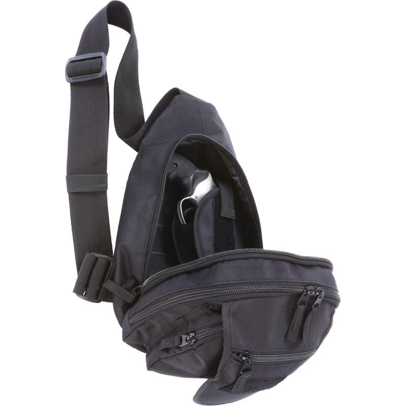 "Extreme Pak Black 13"" Sling Pack with Concealed Handgun Holster"