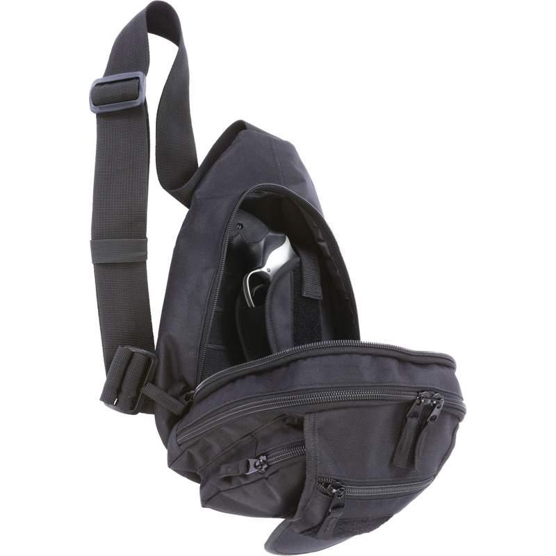 "Extreme Pak Black 13"" Sling Pack with Concealed Handgun Holster"