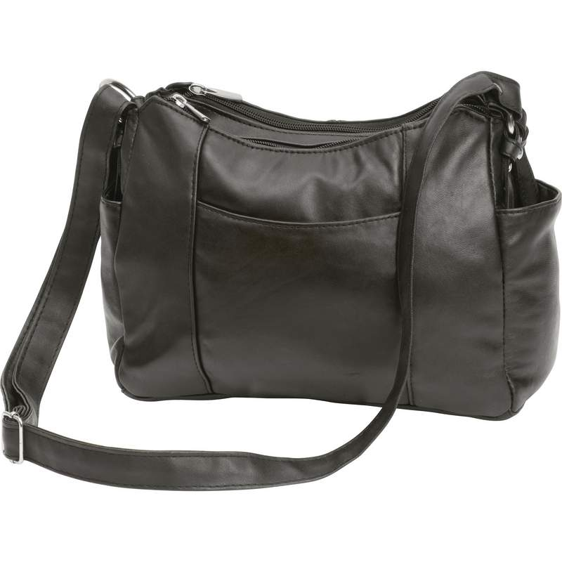 77ff31958b39 Embassy Black Solid Lambskin Leather Purse with Multiple Pockets ...