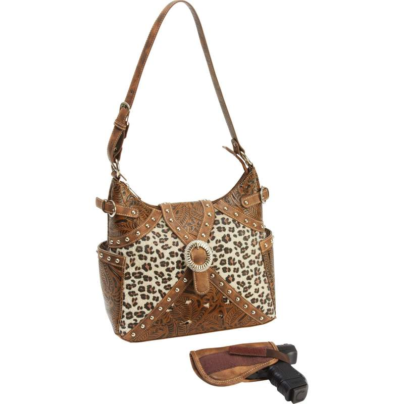 Western Style Concealed Carry Purse With Gun Pocket And