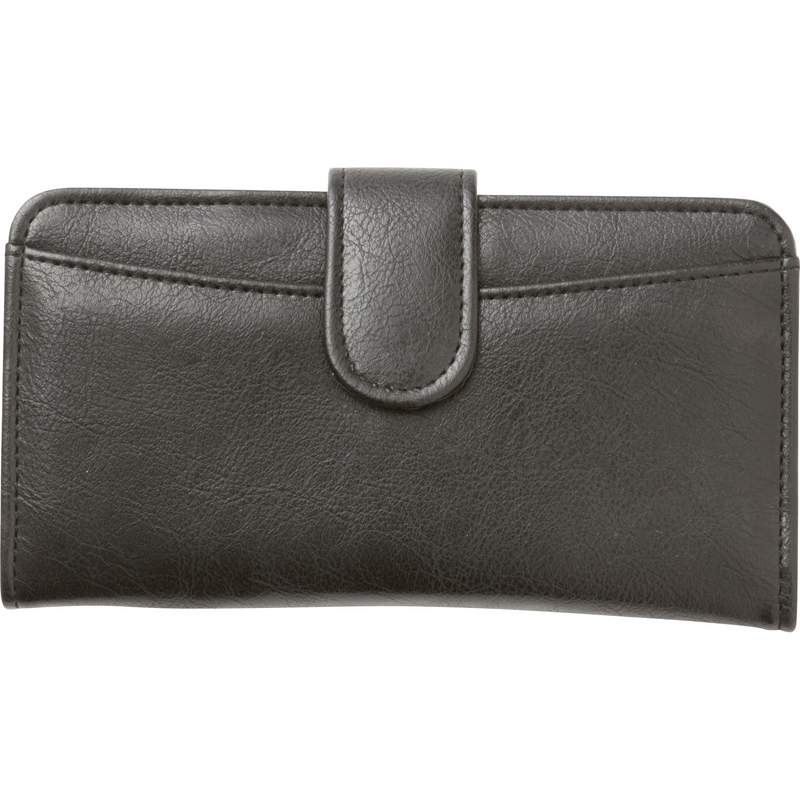 Embassy Ladies Black Wallet with Zippered Exterior Compartment