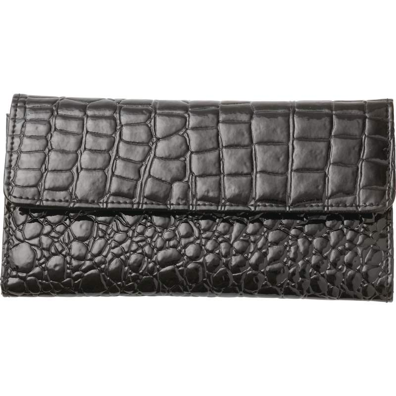 Embassy Ladies Embossed Exterior Wallet with Clear I.D. Window