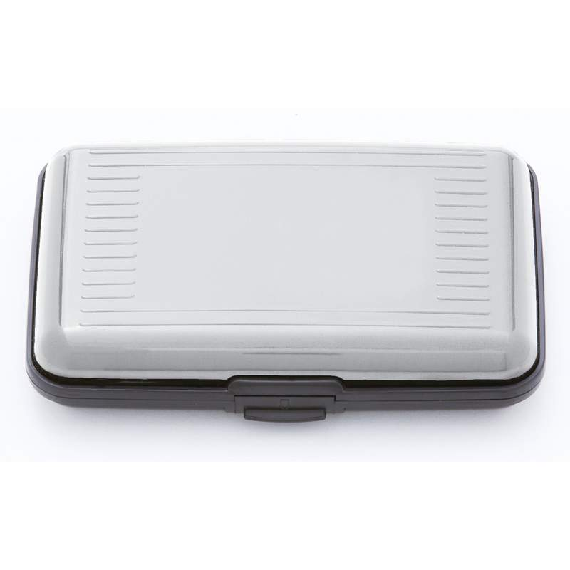 Embassy Silver Tone Finish Aluminum Wallet with RFID Security