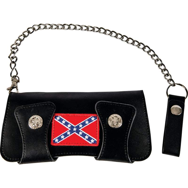 Double Snap Trucker Wallet with Rebel Flag Design on Front