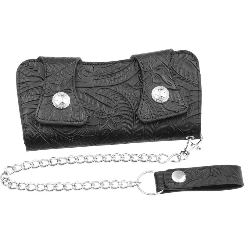 Casual Outfitters Leather Chain Wallet with Multiple Pockets
