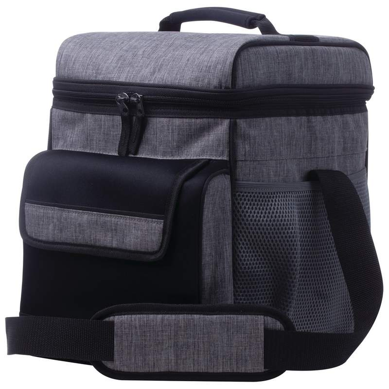 bb3cb553962b Extreme Pak Large Grey Cooler Bag with Padded Shoulder Strap LUXCOOL