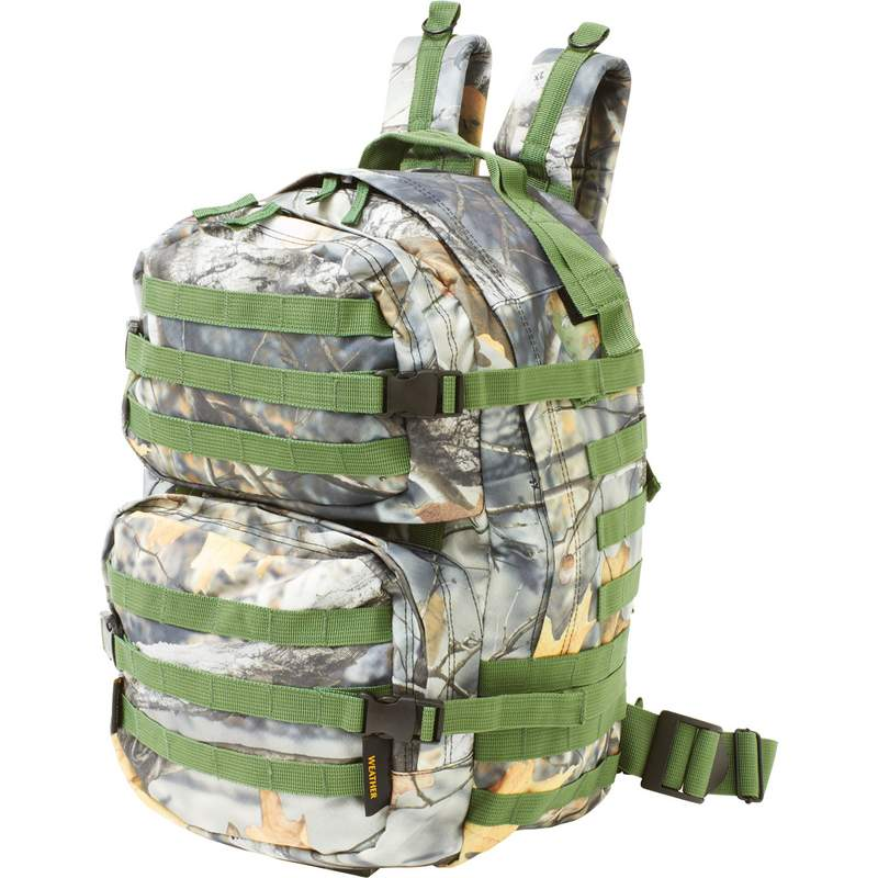 "19"" Camouflage Hunting Backpack with Weather Resistant Material"