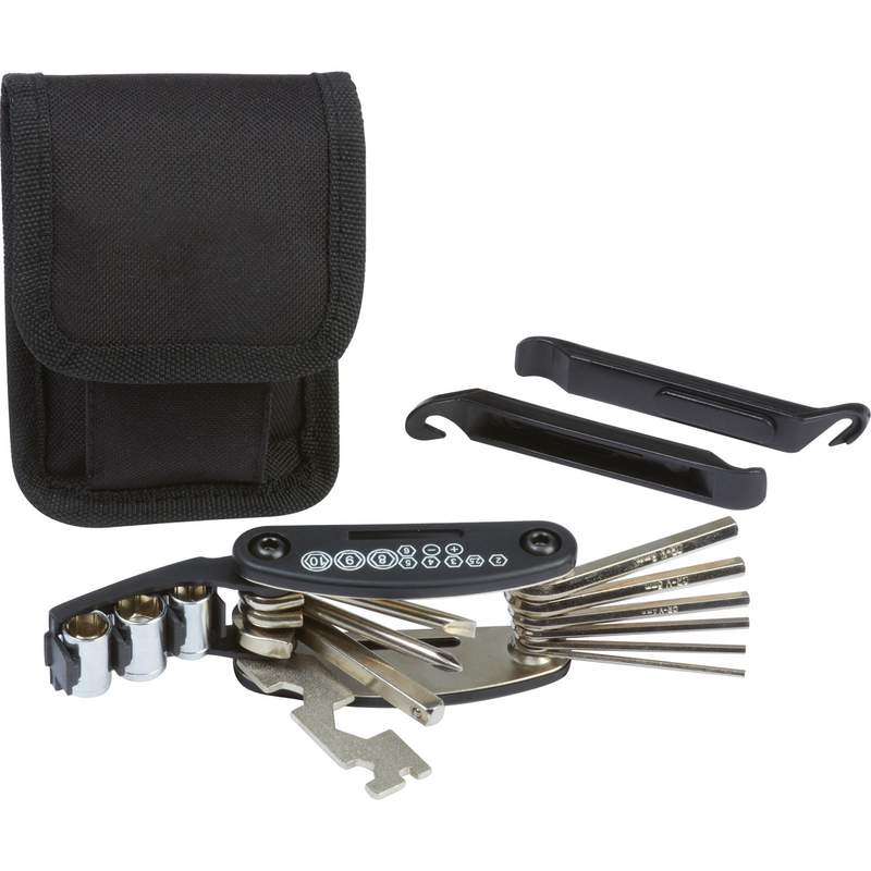 Maxam Bike Repair Set with Polyester Tool Pouch and Belt Loop