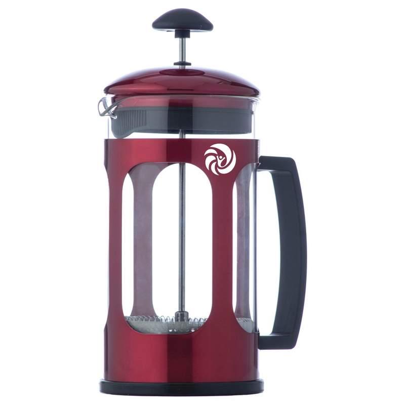 67c231852c77 34 oz Red Metallic French Coffee Press with Custom Pad Print ...