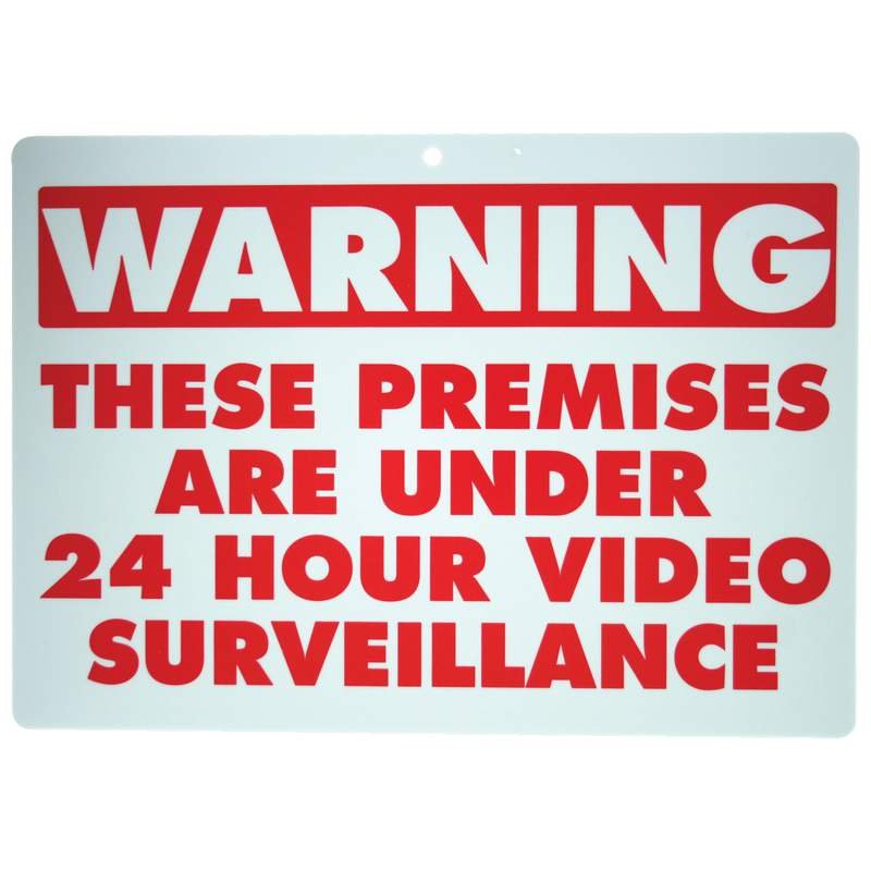 Maxam 10pc WARNING THESE PREMISES ARE UNDER 24 HOUR VIDEO SURVEILLANCE