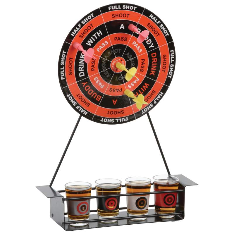 Maxam Magnetic Dart Shot Game With Metal Stand And Game Rules Spdart
