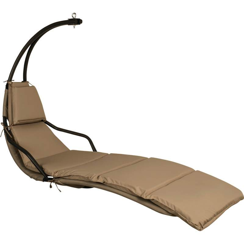 Steel Frame Hanging Lounge Chair with Polyester Fiber Cushion