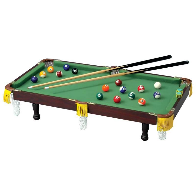 Club Fun Tabletop Miniature Pool Table With Balls And Cue Sticks SPPT - Minnesota fats mini pool table