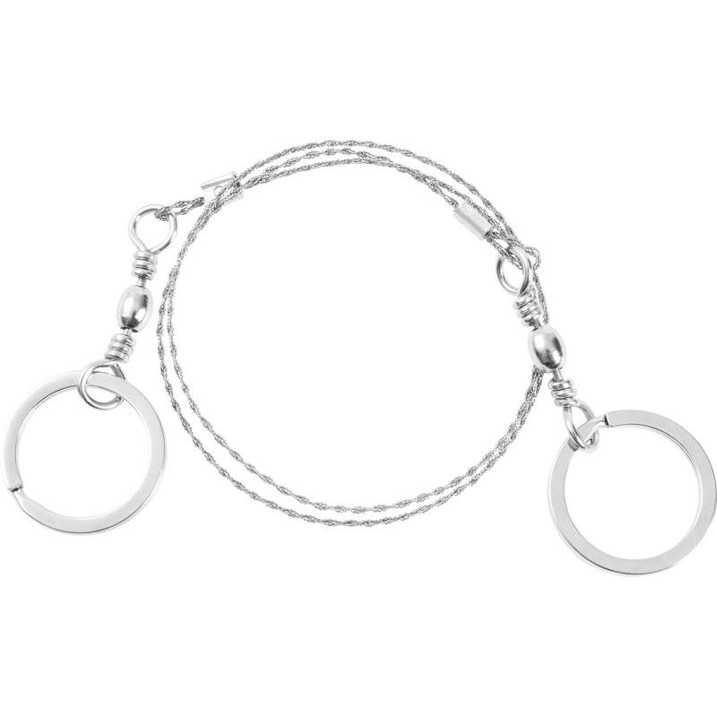 Stainless Steel Survival Wire Saw with Ring Grips and Swivels