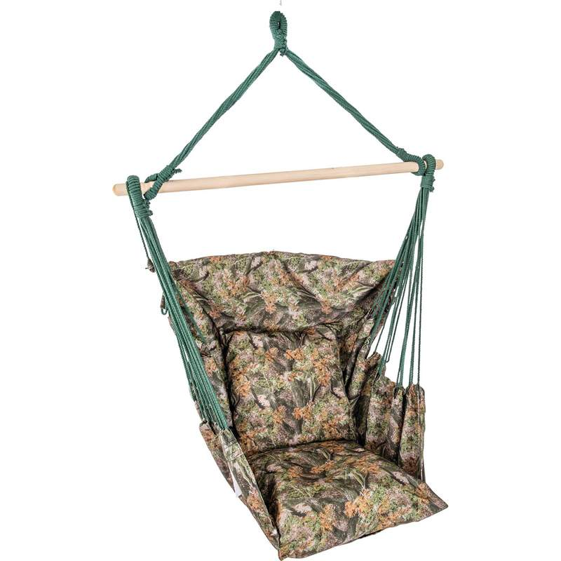 Club Fun Camouflage Polyester Hanging Rope Chair 265lbs Capacity