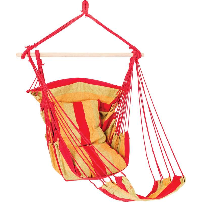 Club Fun Hanging Rope Chair with Foot Rest Holds up to 265lbs