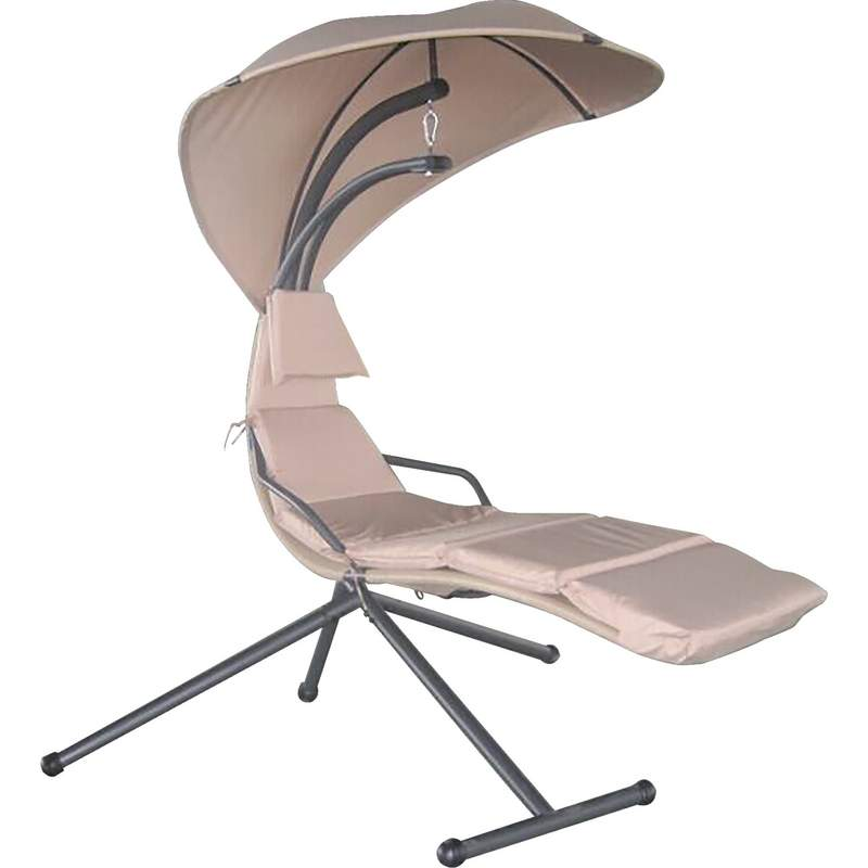Club Fun Swing Chair with Umbrella and Polyester Fiber Cushion
